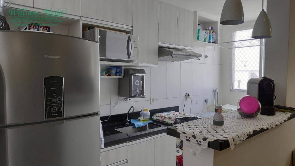 Apartamento com 2 dormitórios para alugar, 50 m² por R$ 1.000/mês - Jardim Maria Dirce - Guarulhos/SP