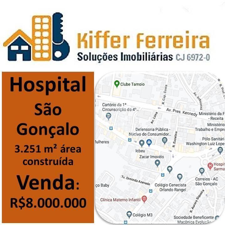 Hospital à venda, 3251 m² por R$ 8.000.000 - Centro - São Gonçalo/RJ