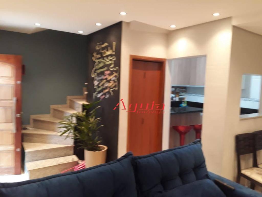 Sobrado com 3 dormitórios à venda, 87 m² por R$ 399.000 - Parque Erasmo Assunção - Santo André/SP