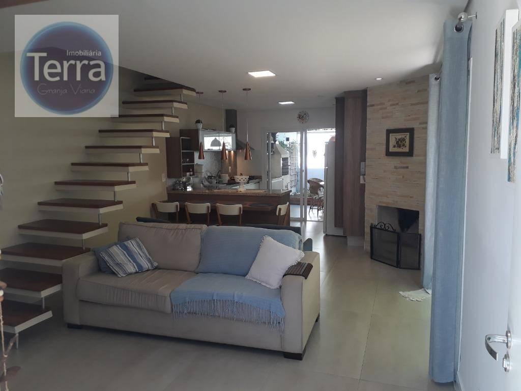 Casa com 3 dormitórios à venda, 112 m² por R$ 635.000 - Modernittà Granja II - Granja Viana
