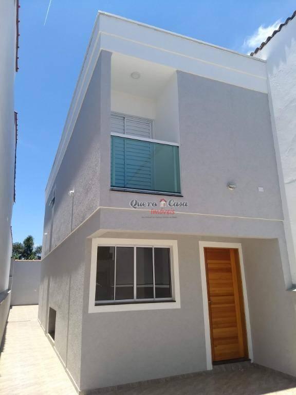 Sobrado com 2 dormitórios à venda, 78 m² por R$ 315.000 - Vi