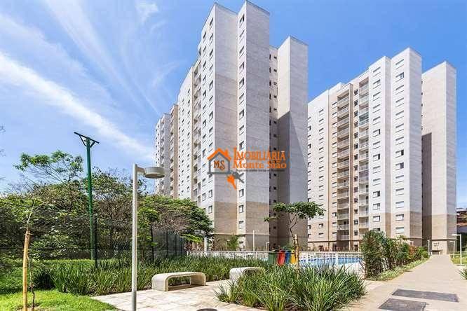 Apartamento no Condomínio Mais Guarulhos com 2 dormitórios, 50 m²  - Jardim Bela Vista - Guarulhos/SP