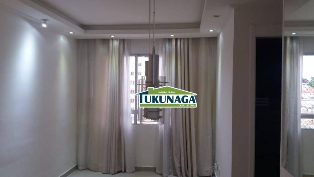 Apartamento com 2 dormitórios para alugar, 45 m² - Vila Augusta - Guarulhos/SP