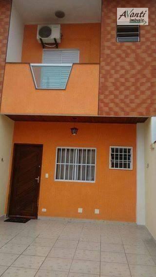 Sobrado com 2 dormitórios à venda, 99 m² por R$ 265.000 - Parque Bitaru - São Vicente/SP