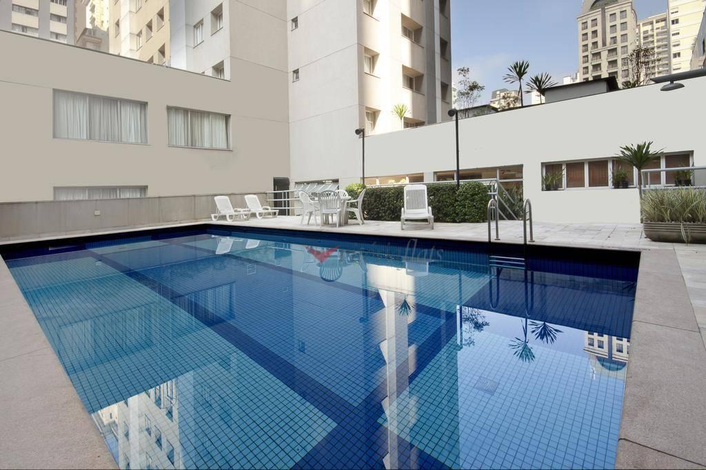 Flat com 1 dormitório à venda, 27 m² por R$ 450.000 - Jardim Paulista - São Paulo/SP