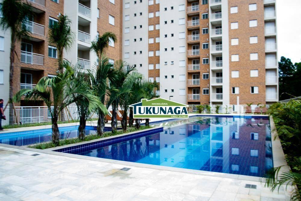 Apartamento com 2 dormitórios para alugar, 58 m² por R$ 1.500/mês - Jardim Flor da Montanha - Guarulhos/SP