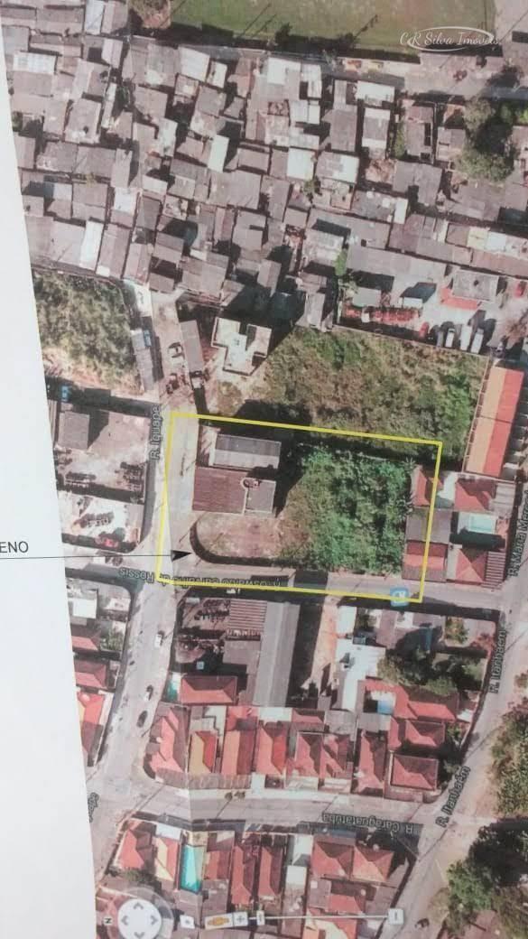 Terreno à venda, 1800 m² por R$ 2.600.000 - Chico de Paula - Santos/SP