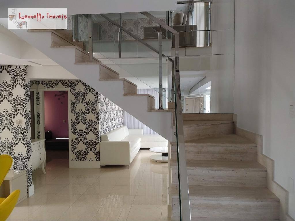 Cobertura com 4 dormitórios para alugar, 227 m² por R$ 7.000/mês - Centro - Santo André/SP