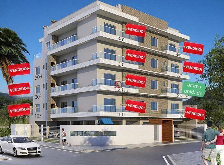 Apartamento com 3 dormitórios à venda, 104 m² por R$ 440.000,00 - Itacolomi - Balneário Piçarras/SC