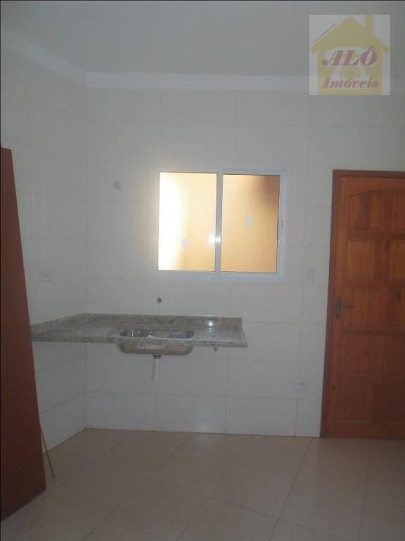 Sobrado com 2 dormitórios à venda, 65 m² por R$ 160.000 - Balneário Esmeralda - Praia Grande/SP