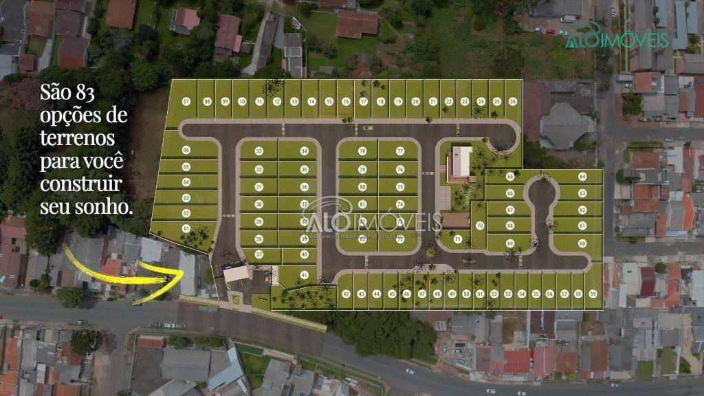 Terreno à venda, 95 m² por R$ 128.688 - Pinheirinho - Curitiba/PR