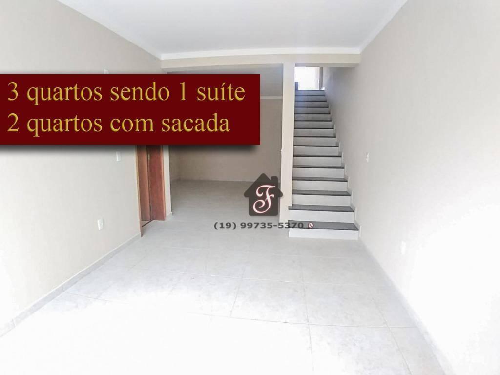 Sobrado com 3 dormitórios à venda, 125 m² por R$ 510.000 - Parque Jambeiro - Campinas/SP