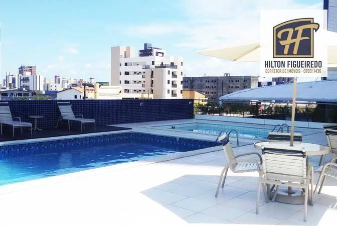 Apartamento com 2 dormitórios para alugar, 110 m² por R$ 2.510,00/mês - Jardim Oceania - João Pessoa/PB