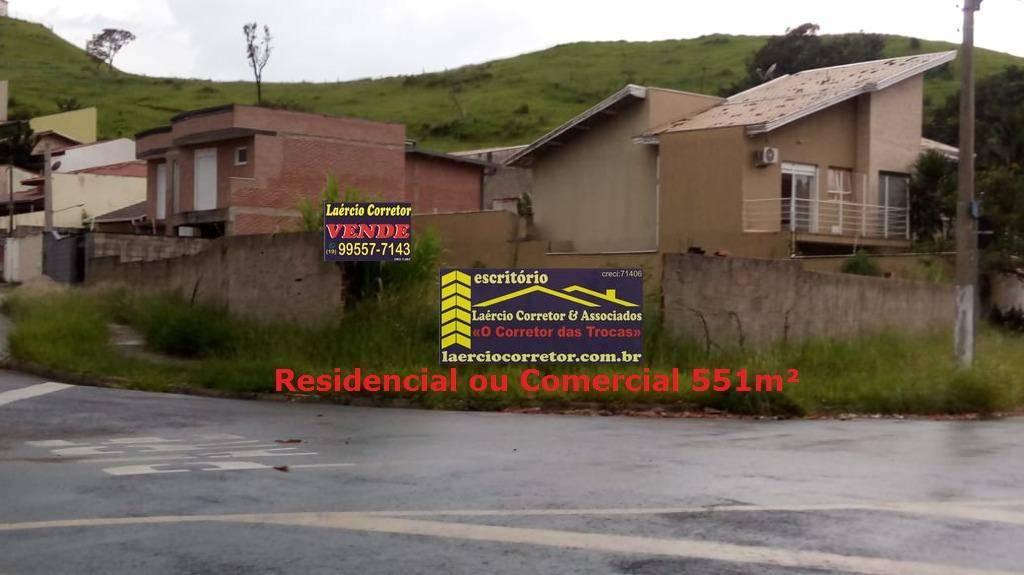 Terreno Valinhos com 551m² residencial ou comercial R$ 450mil