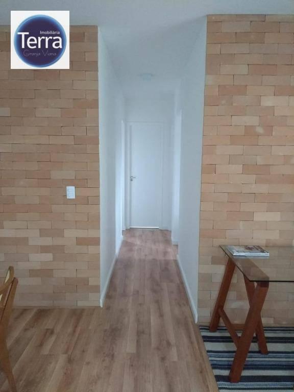 Apartamento com 3 dormitórios à venda, 70 m² por R$ 420.000 - Harmonia Residence Park - Granja Viana