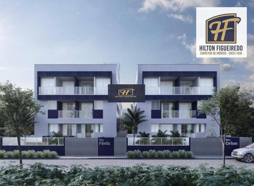 Apartamento com 2 dormitórios à venda por R$ 280.000 - Jardim Oceania - João Pessoa/PB
