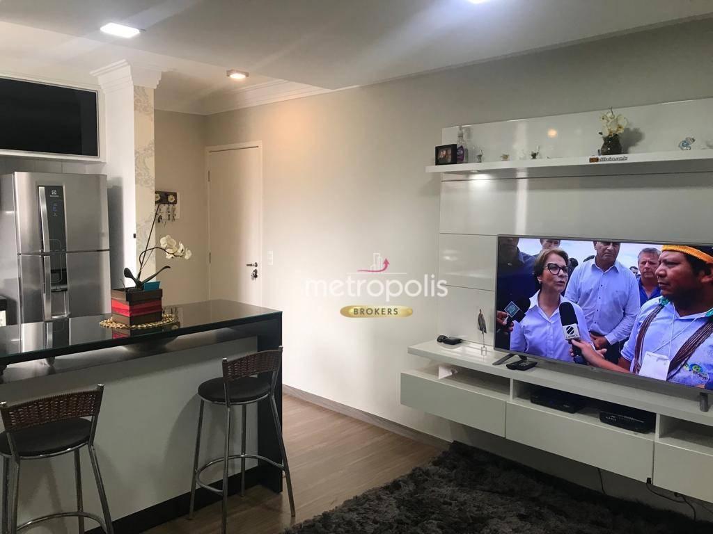 Apartamento com 2 dormitórios à venda, 50 m² por R$ 275.000 - Vila Palmares - Santo André/SP