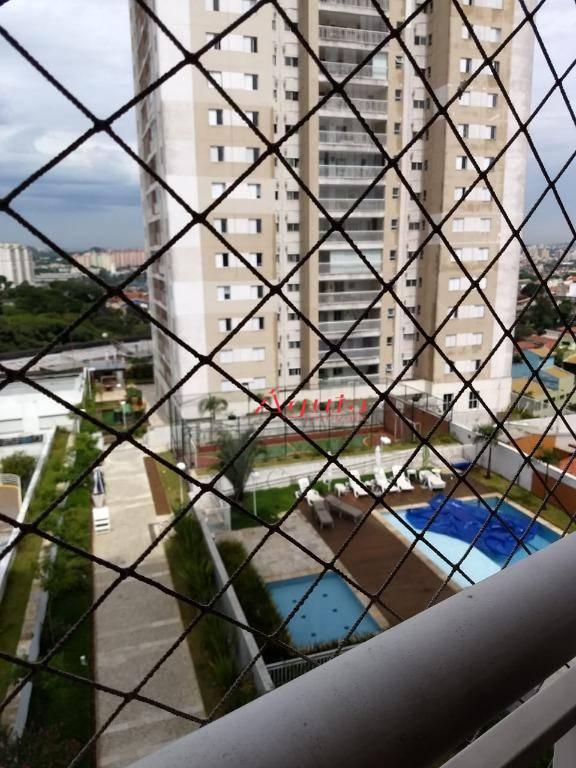 Apartamento com 3 dormitórios à venda, 93 m² por R$ 650.000 - Vila Valparaíso - Santo André/SP