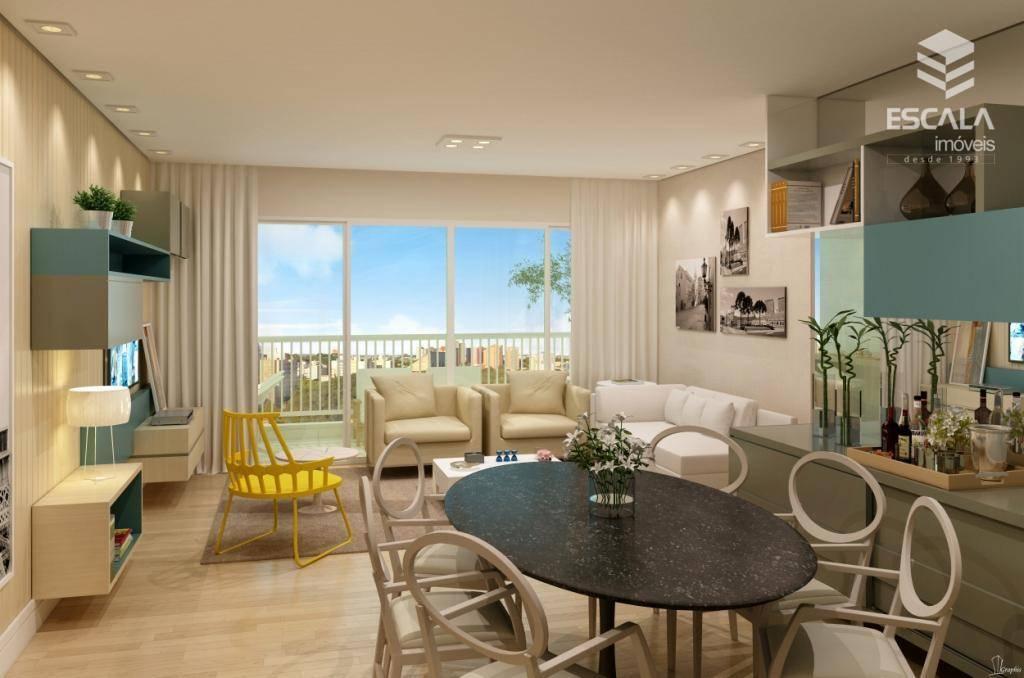 Apartamento com 3 quartos à venda, 105 m², área de azer, 2 vagas, financia - Cambeba - Fortaleza/CE