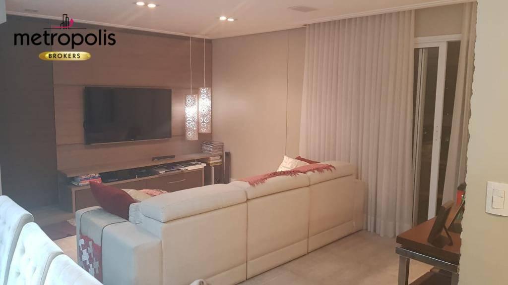 Apartamento com 3 dormitórios à venda, 142 m² por R$ 1.270.000 - Osvaldo Cruz - São Caetano do Sul/SP