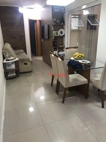 Apartamento com 2 dormitórios à venda, 60 m² por R$ 270.000 - Vila Curuçá - Santo André/SP
