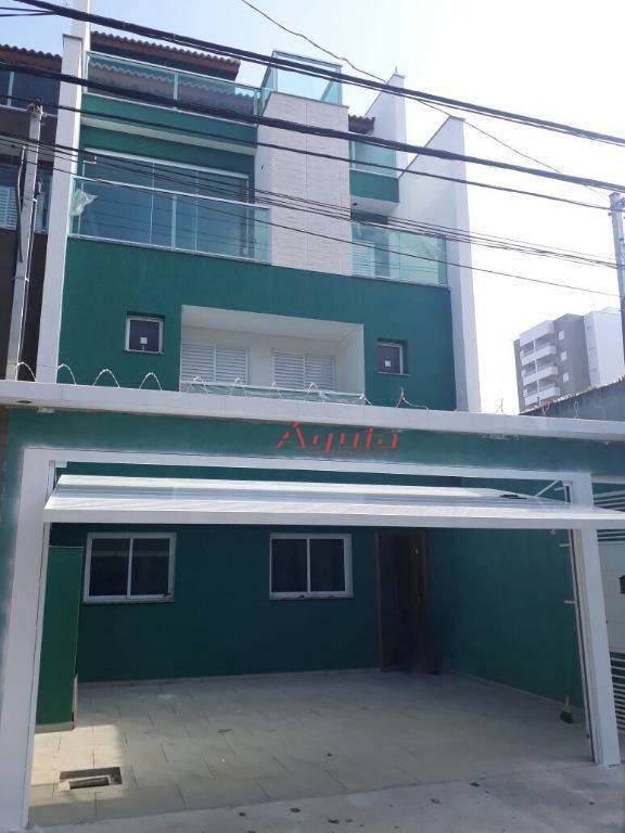 Sobrado com 3 dormitórios à venda, 124 m² por R$ 590.000 - Campestre - Santo André/SP