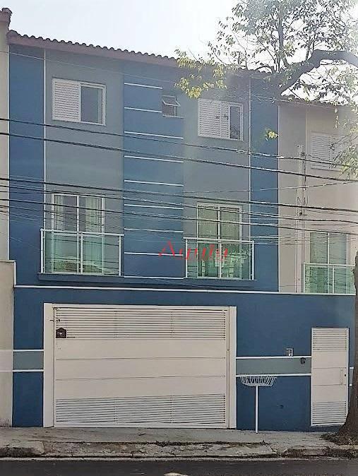 Sobrado com 3 dormitórios à venda, 128 m² por R$ 575.000 - Campestre - Santo André/SP