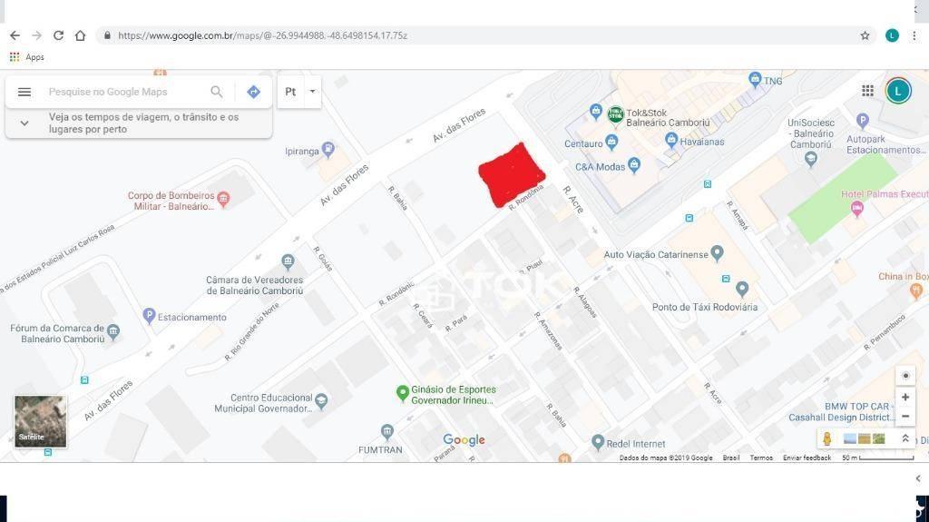 Terreno à venda, 418 m² por R$ 1.150.000,00 - Estados - Balneário Camboriú/SC