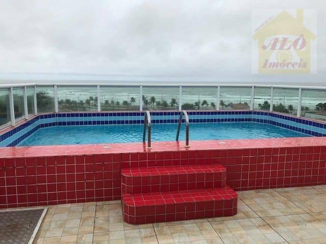 Apartamento com 1 dormitório para alugar, 39 m² por R$ 1.300/mês - Jardim Imperador - Praia Grande/SP