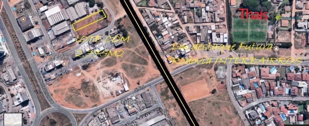 Terreno à venda em Samambaia Norte, Samambaia - DF