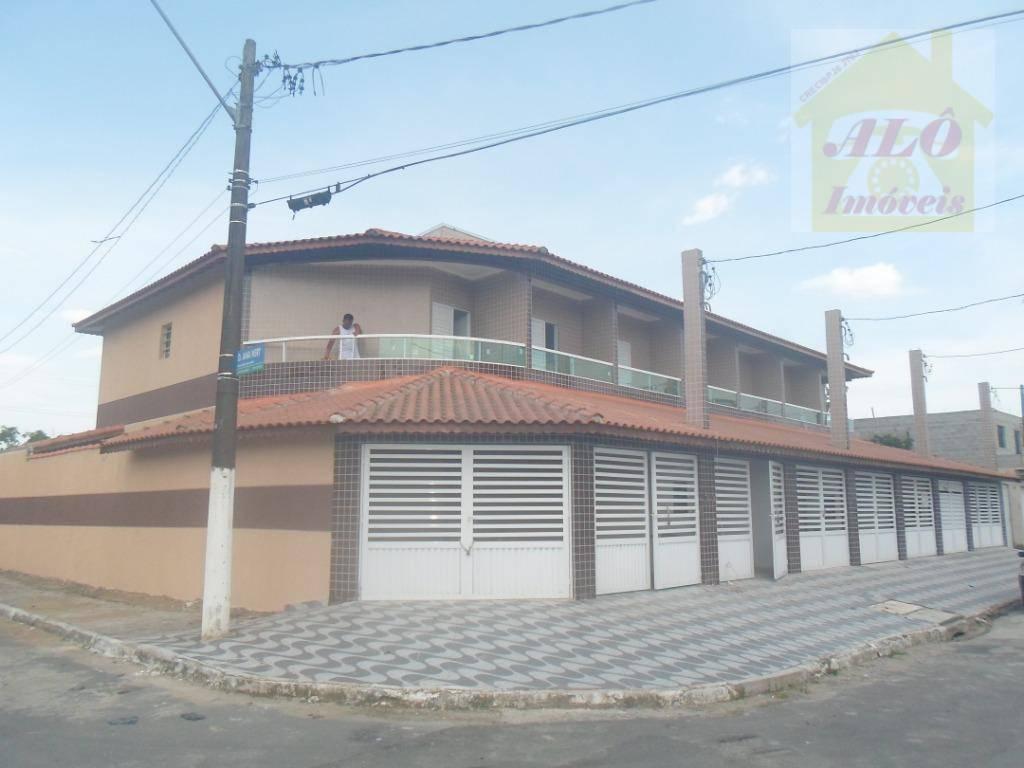 Sobrado com 2 dormitórios à venda, 68 m² por R$ 240.000 - Tude Bastos (Sítio do Campo) - Praia Grande/SP