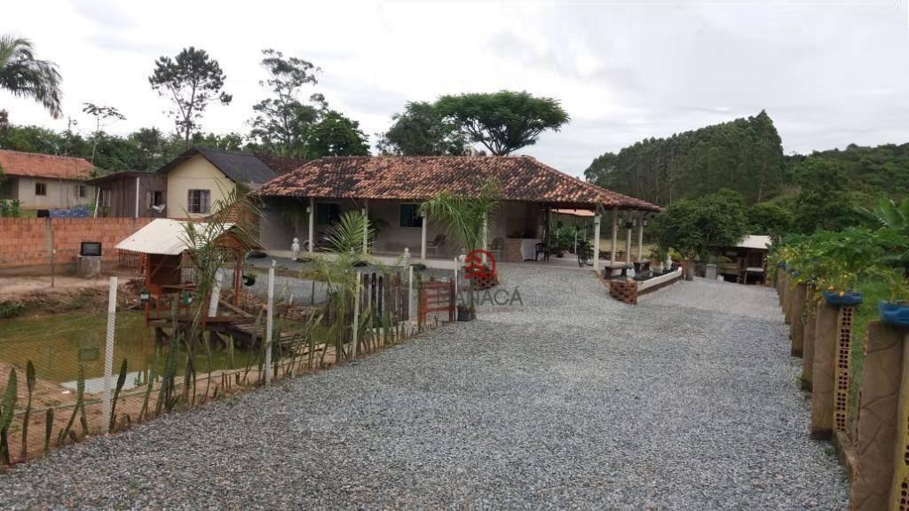 Chácara com 2 dormitórios para alugar, 1300 m² por R$ 350,00/dia - Itajuba - Barra Velha/SC