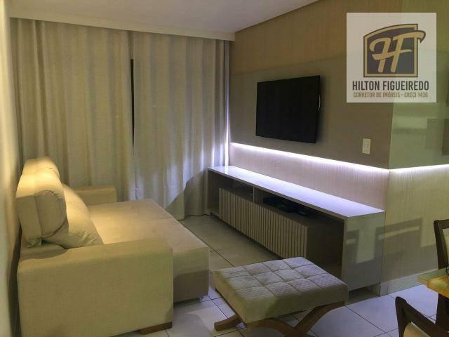 Apartamento com 3 dormitórios para alugar, 90 m² por R$ 2.000/mês - Bessa - João Pessoa/PB