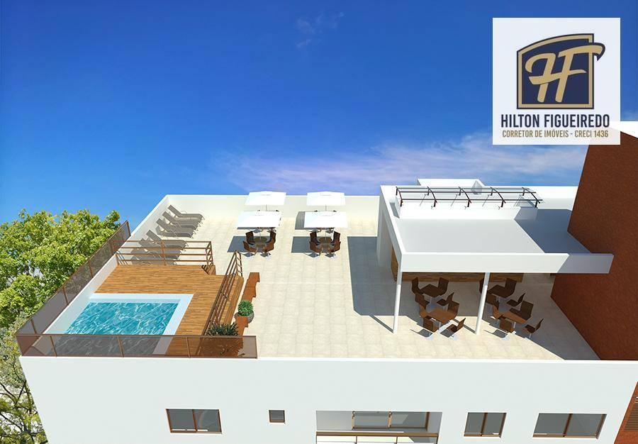 Apartamento com 2 dormitórios à venda, 53 m² por R$ 169.900 - Bancários - João Pessoa/PB