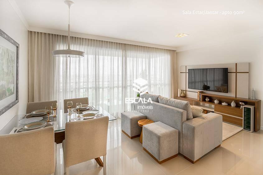 Apartamento com 3 quartos à venda, 90 m², novo, 2 vagas, área de lazer, financia - Benfica - Fortaleza/CE