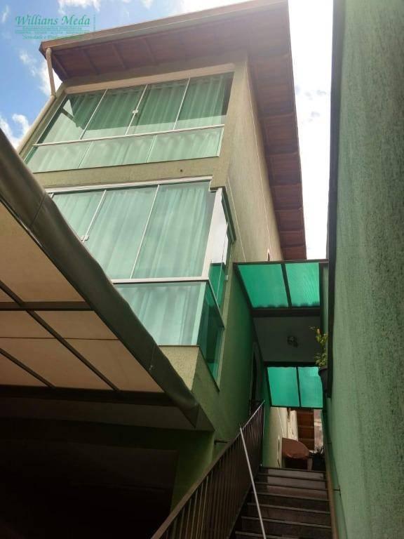 Sobrado com 3 suítes com elevador à venda, 186 m² por R$ 650.000 - Parque Continental II - Guarulhos/SP