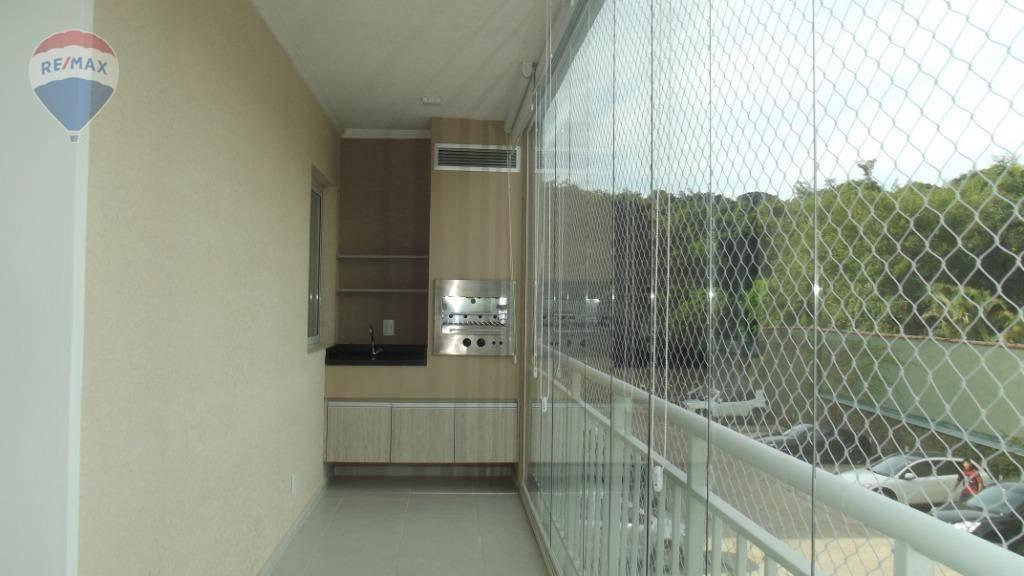 Apartamento com 3 dormitórios para alugar por R$ 2.300/mês - Jardim Floresta - Atibaia/SP