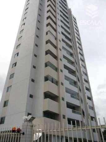 Apartamento com 3 quartos à venda, 126 m², novo, área de lazer, financia ? Luciano Cavalcante - Fortaleza/CE