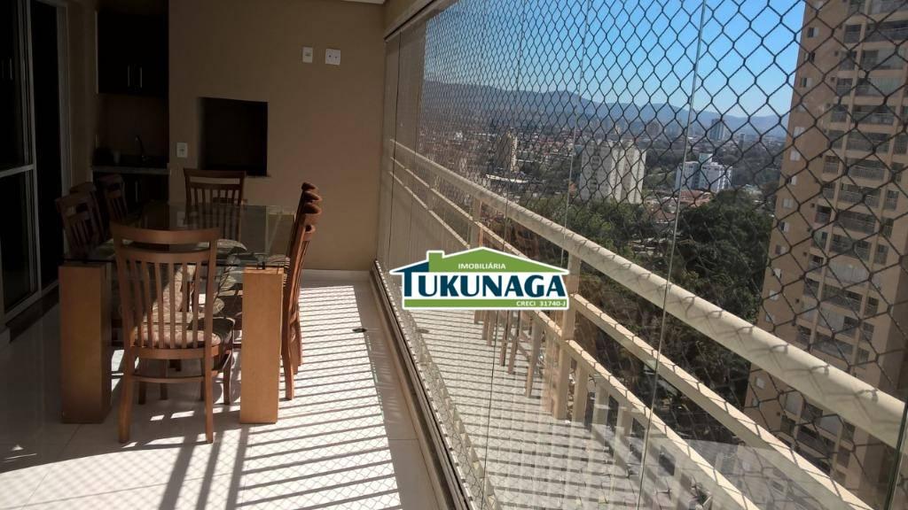 Apartamento com 3 dormitórios para alugar, 92 m² - Vila Augusta - Guarulhos/SP