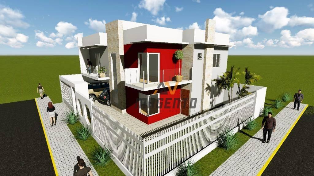 Sobrado de esquina com 3 dormitórios à venda, 150 m² por R$ 580.000 - Alto Alegre - Cascavel/PR