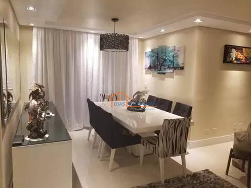 Apartamento com 147m2 com:,3 suítes ,lavabo, cozinha, sala de estar e jantar 2 terraços,  sendo um deles com churrasqueira 2 vagas de garagem fixas e