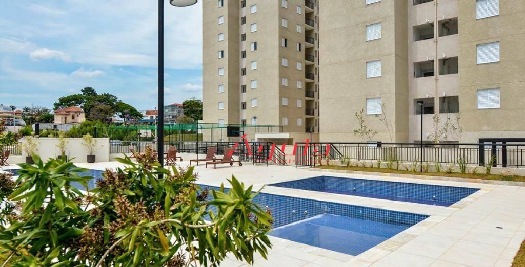 Apartamento com 2 dormitórios à venda, 64 m² por R$ 270.000 - Utinga - Santo André/SP