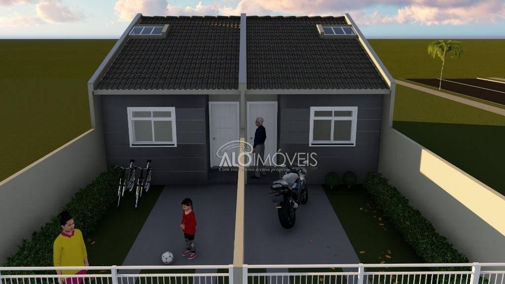 Casa com 2 dormitórios à venda, 41 m² por R$ 155.000 - Campo de Santana - Curitiba/PR