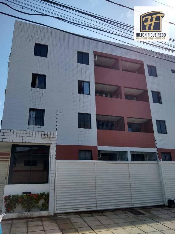Apartamento com 2 dormitórios para alugar por R$ 1.100,00/ano - Jardim Cidade Universitária - João Pessoa/PB
