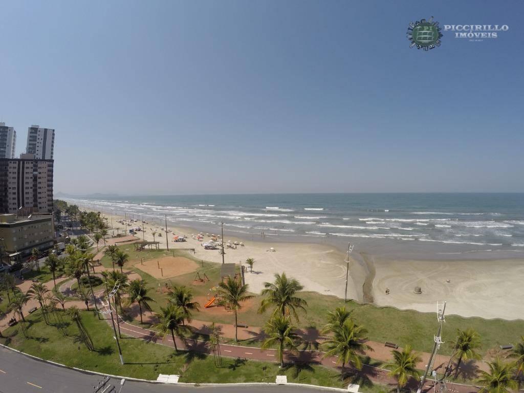 Apartamento 1 dormitório, 60 m², R$ 220 mil, Caiçara, Praia Grande/SP, Frente Mar