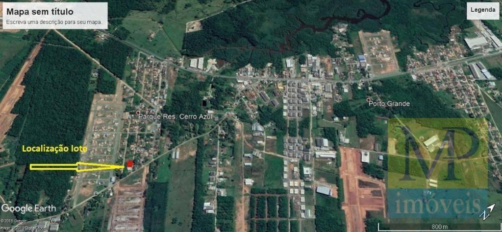 Terreno à venda, 351 m² por R$ 90.000 - Porto Grande - Araquari/SC