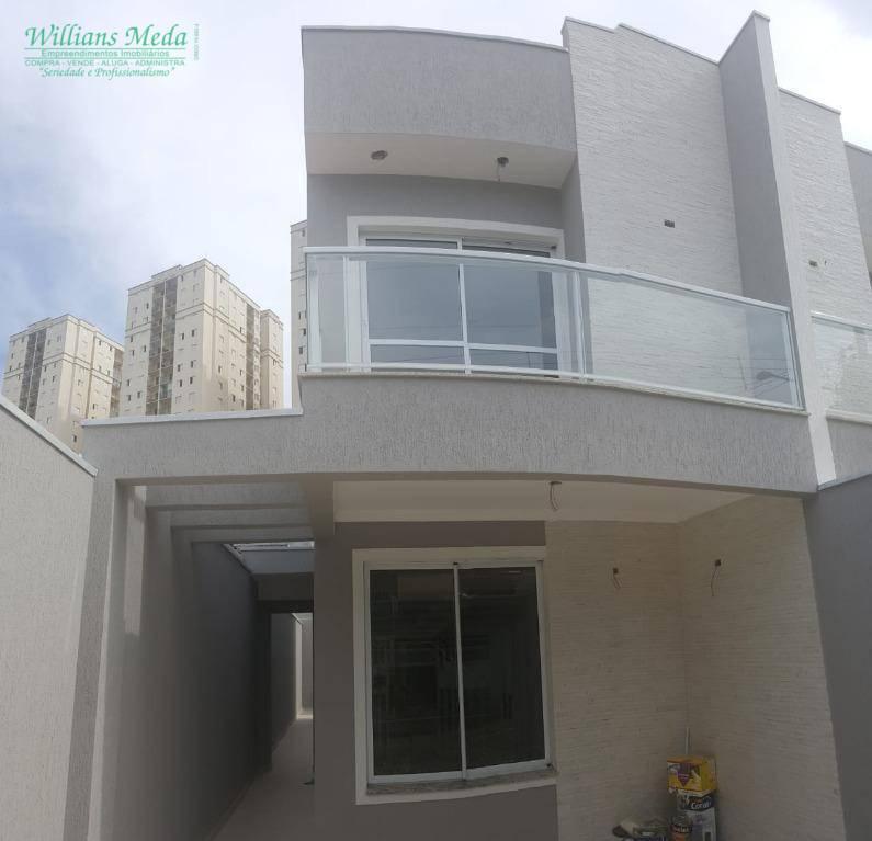 Sobrado com 3 dormitórios à venda, 127 m² por R$ 650.000 - Vila Paulista - Guarulhos/SP