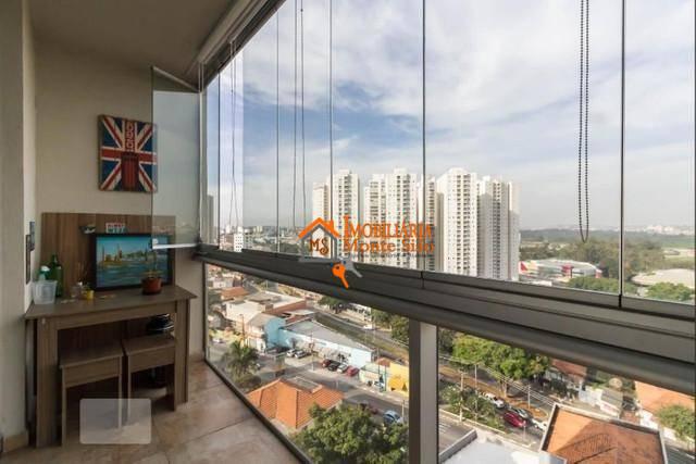 Apartamento com 1 dormitório para alugar, 40 m² por R$ 2.430,00/mês - Vila Augusta - Guarulhos/SP