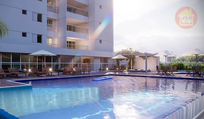 Apartamento à venda, 105 m² por R$ 716.140,86 - Vila Alzira - Guarujá/SP