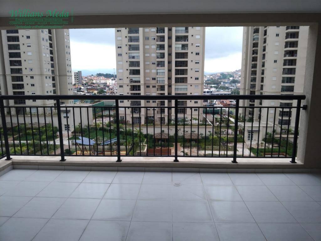 Apartamento com 3 dormitórios para alugar, 122 m² por R$ 3.500,00 (pacote de locação) - Jardim Flor da Montanha - Guarulhos/SP.
